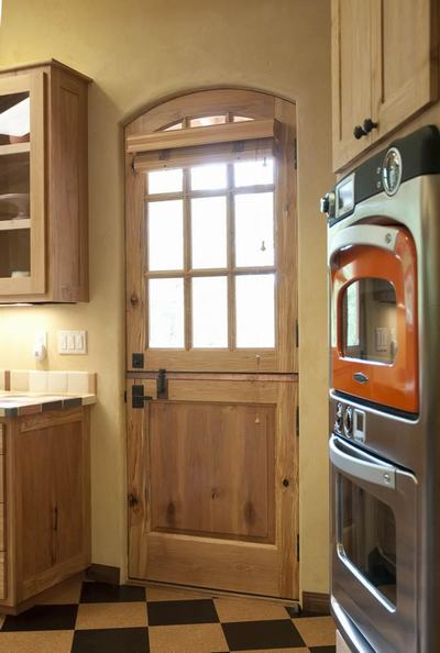 Wooden Door Design For Rustic Kitchen Open Kitchen Door Designs
