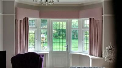 Bay Window Pelmet With Sill Length Curtains Window Seat Bay Window Design