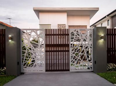 Home Entrance Gate Designs House Design Plans For Unique Plan Modern  Architectural New Brisbane Screened Driveway