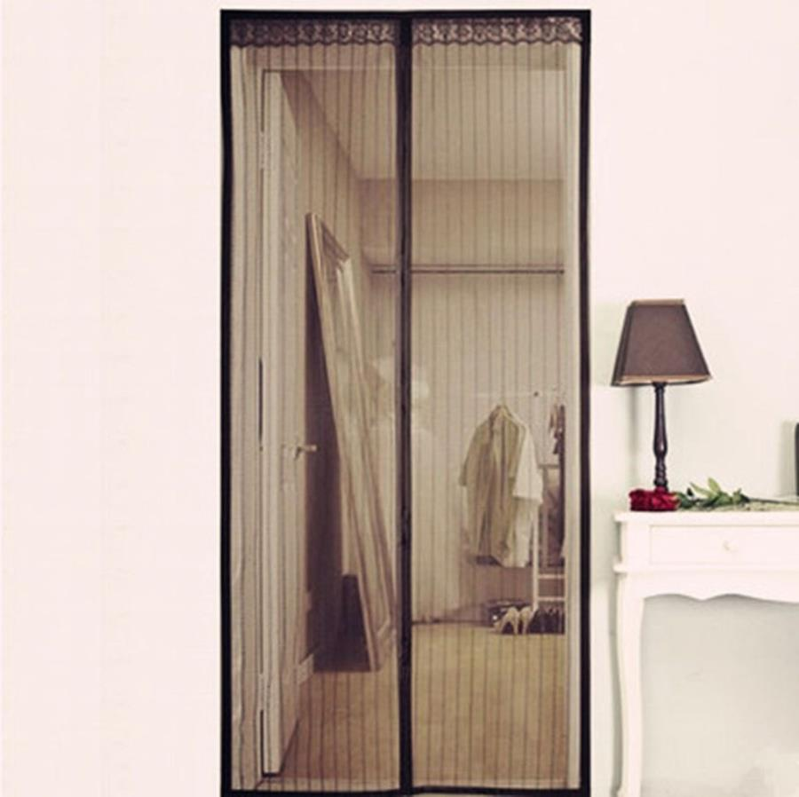 Black Door Window Screens Mesh Screen Door Mosquito Net Door For Living Room Fly Insect Stopping iron net door design.html