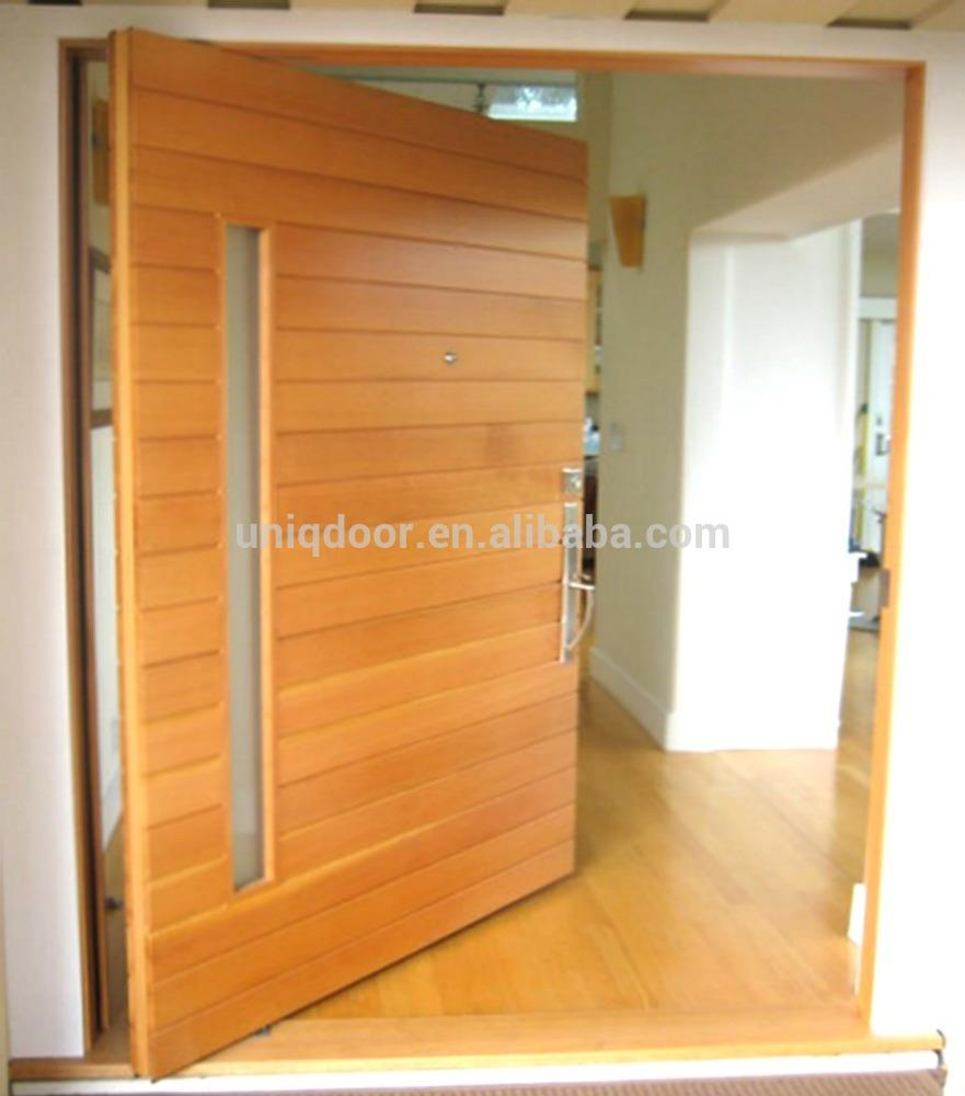 Exterior mahongay wood front pivot door designs plywood doors design in pakistan & 67+ Plywood Main Door Design \u0026 Style with Price for Indian Homes