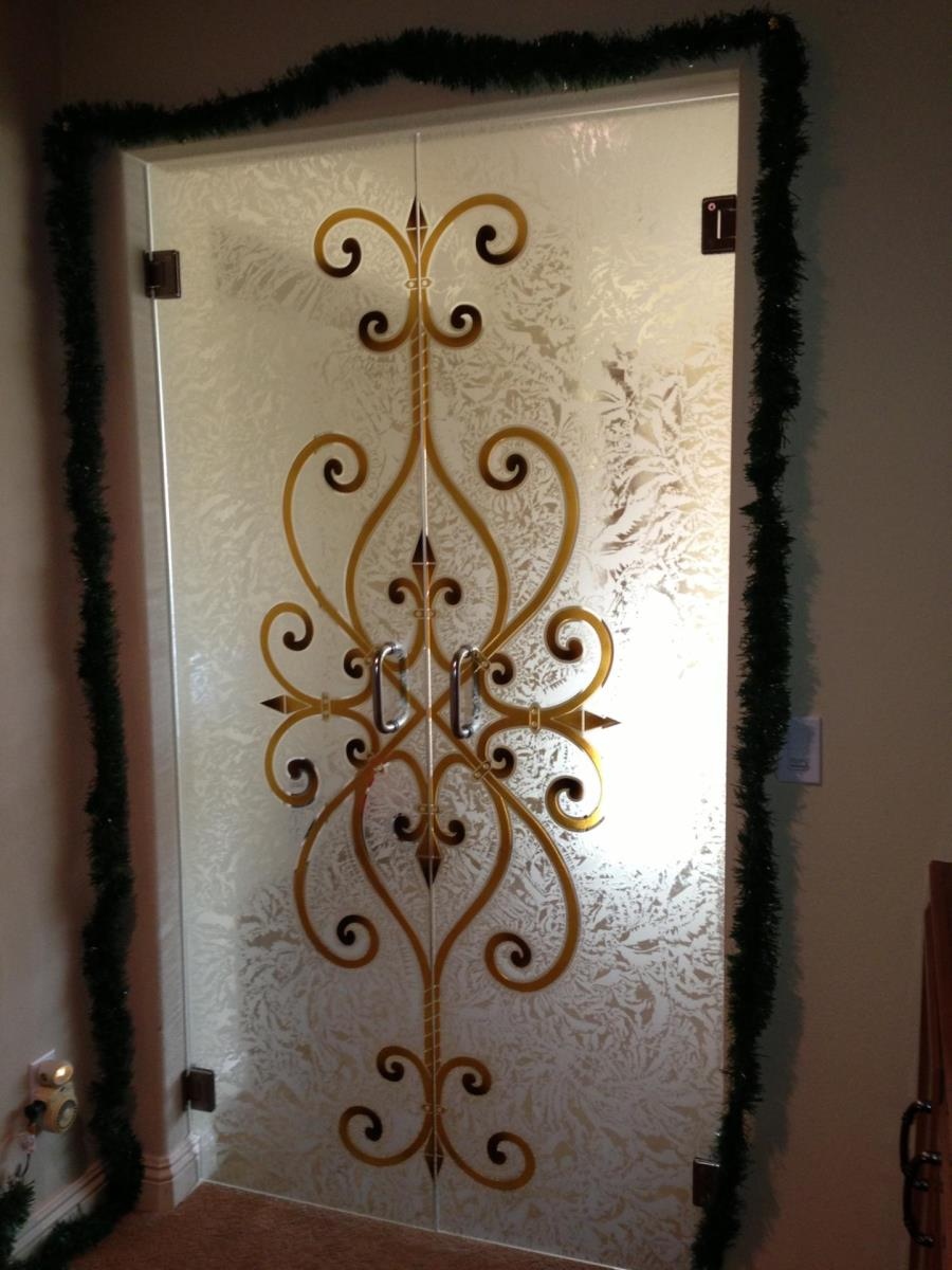 Frameless Interior Glass Doors that are Etched and Carved bedroom door glass design.html
