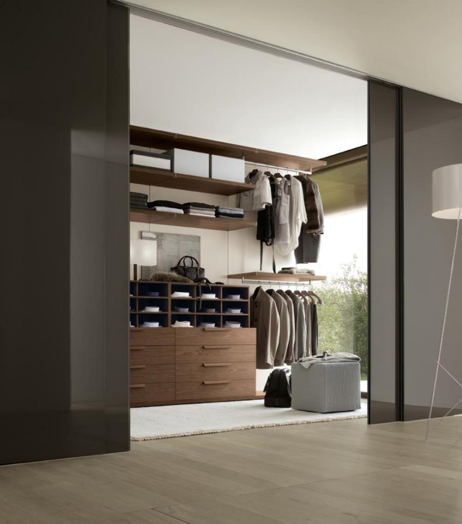 Lovely Modern Bedroom Design Ideas with Sliding Door and closet arrangements for clothes also laminated wood flooring ideas laminated flush door designs.html