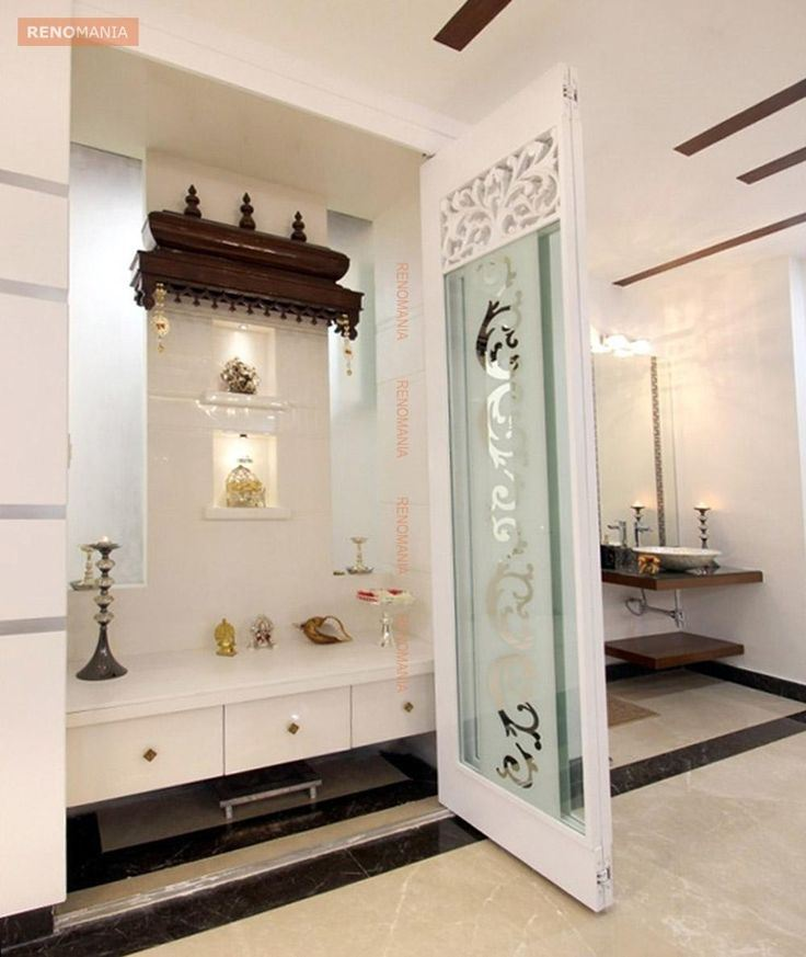 67 simple pooja room temple designs styles for small home for Marble temple designs for home