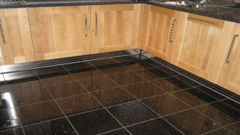 Black Galaxy Granite Floor Tile Problems Graceful Kitchen Designs For House