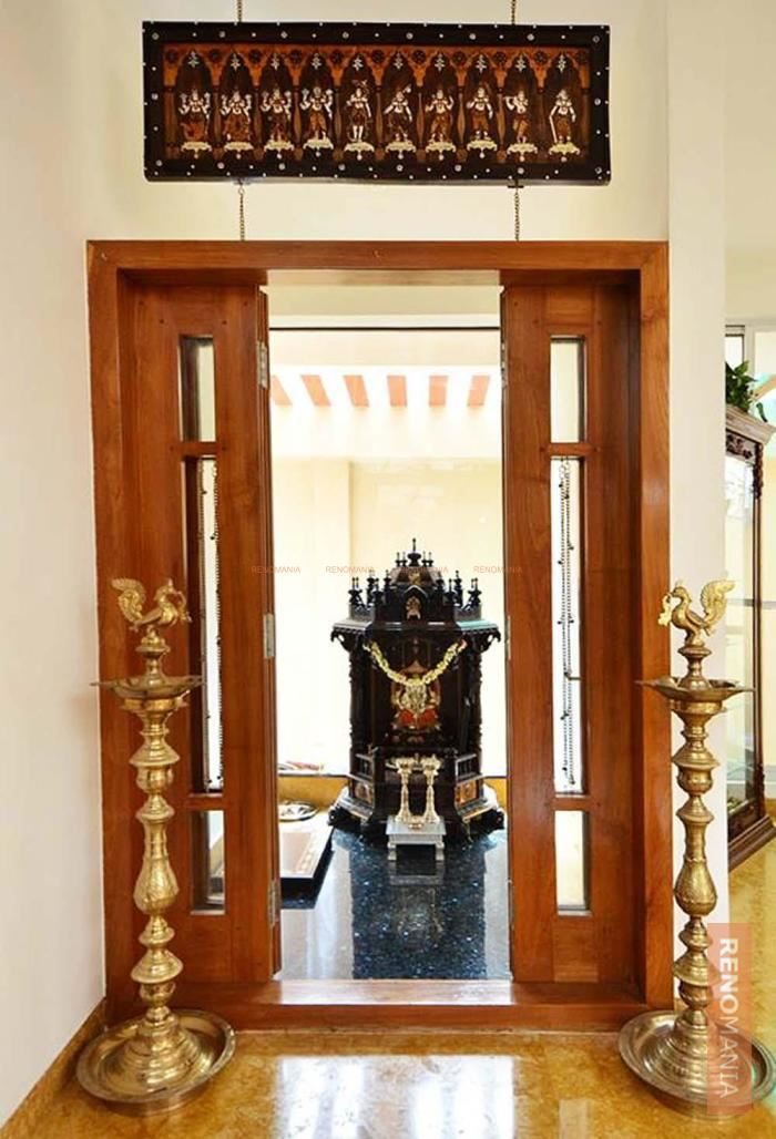 Pooja Room Designs For Flats: 67+ Simple Pooja Room/Temple Designs & Styles For Small Home