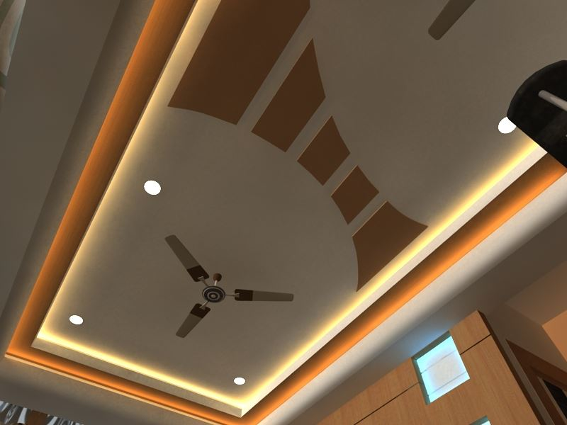 False Ceiling Designs For Hall With Two Fans The Best Image