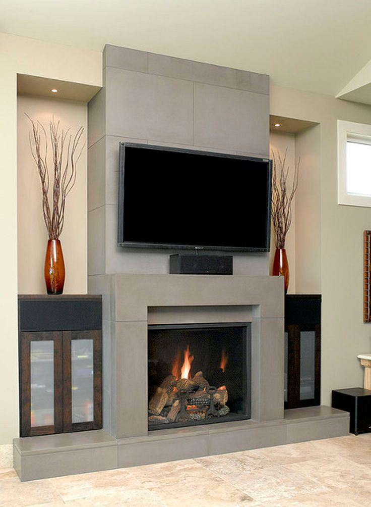 57+ Modern Fireplace/Mantel Design Ideas of Stone & Tiles