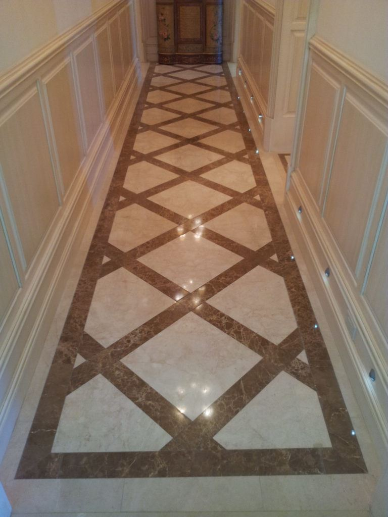 Crema Marfil And Emperador Light Marble Floors Design By Blair Floor In Flooring X