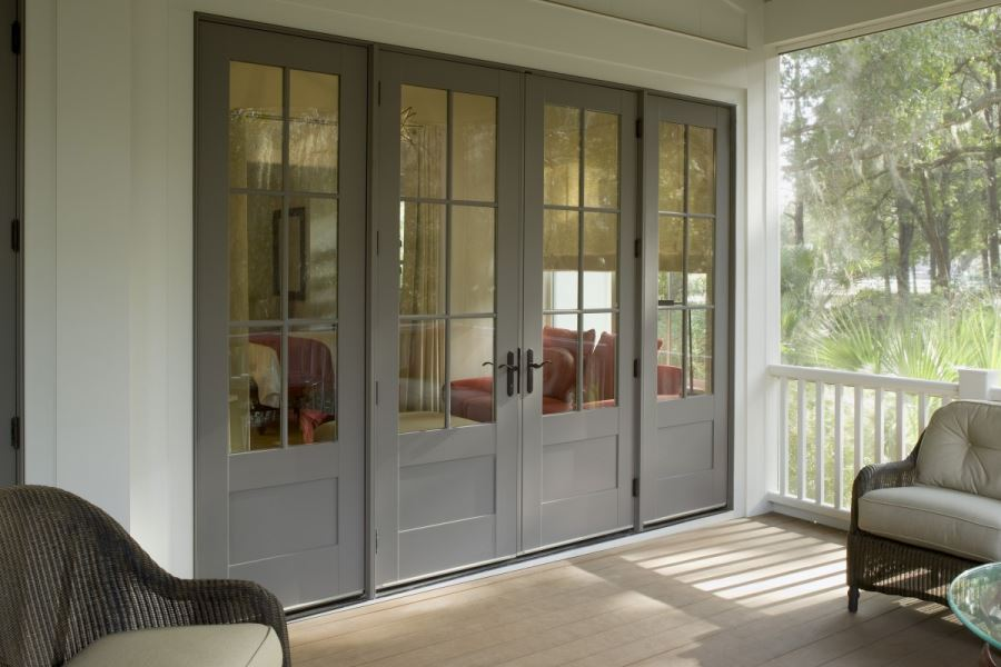 decor sunroom with french door design ideas and wicker.html