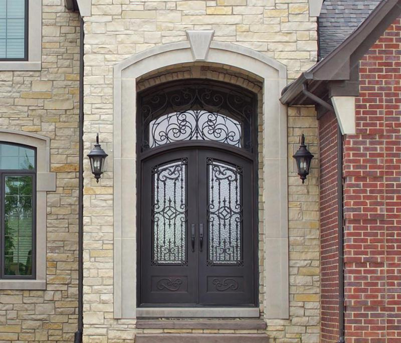 eyebrow iron entry door w transom%25 c iron double door design latest design of iron main gate iron door.html