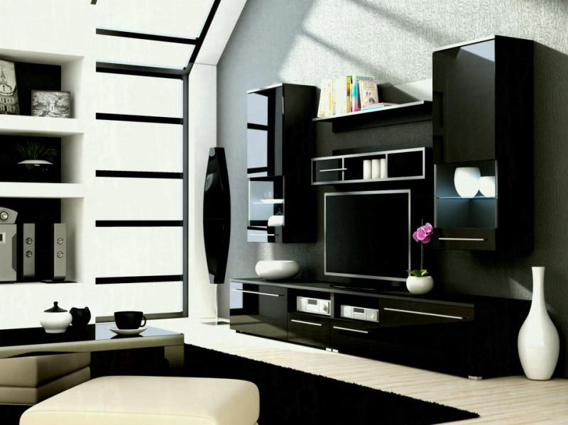 Home Tv Stand Furniture Designs Living Room Cabinet Design Ideas With Black Modern Wall