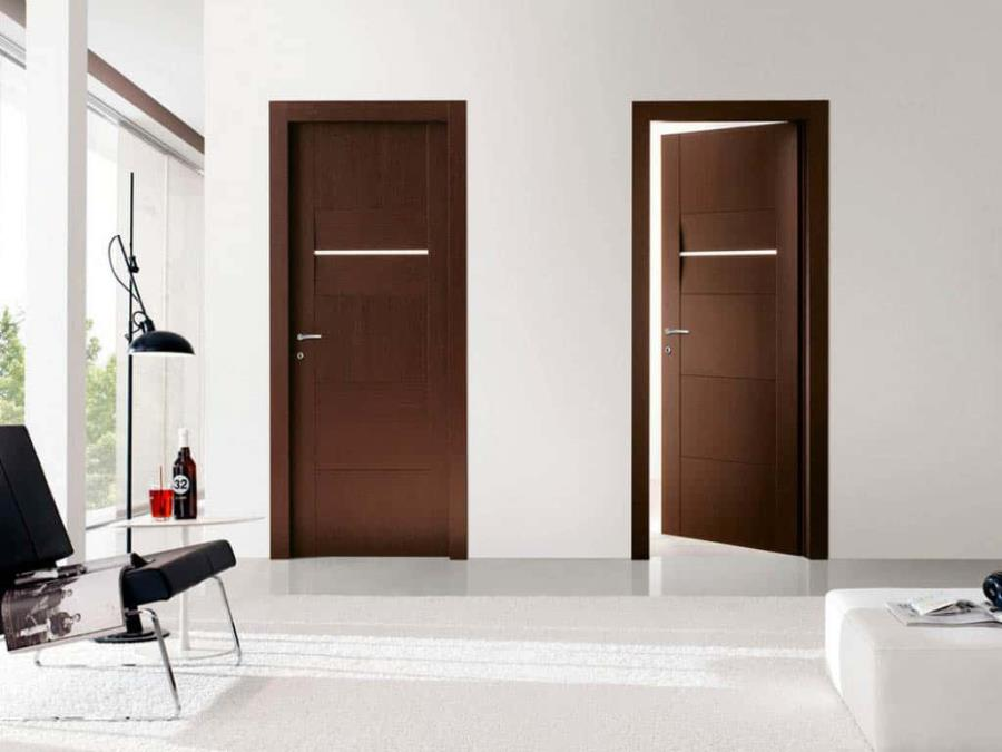 91+ Modern Bedroom Door Designs in Wood with Glass for Homes in India