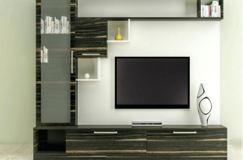 49 lcd tv unit cabinet wall design ideas for living - Wall showcase designs for living room ...
