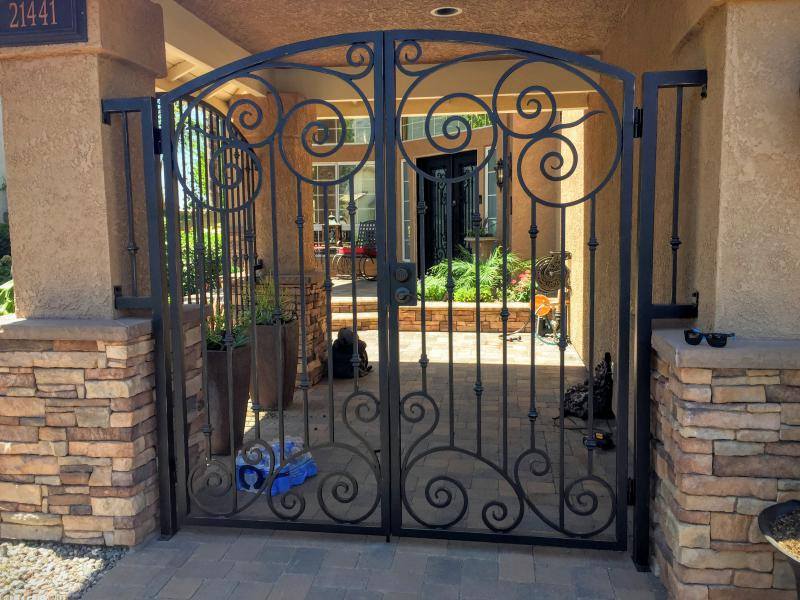 oc iron gate after iron security door designs double door front door designs iron door.html