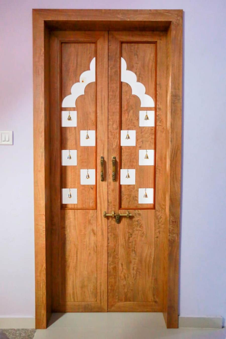 Pooja Room Double Door Designs