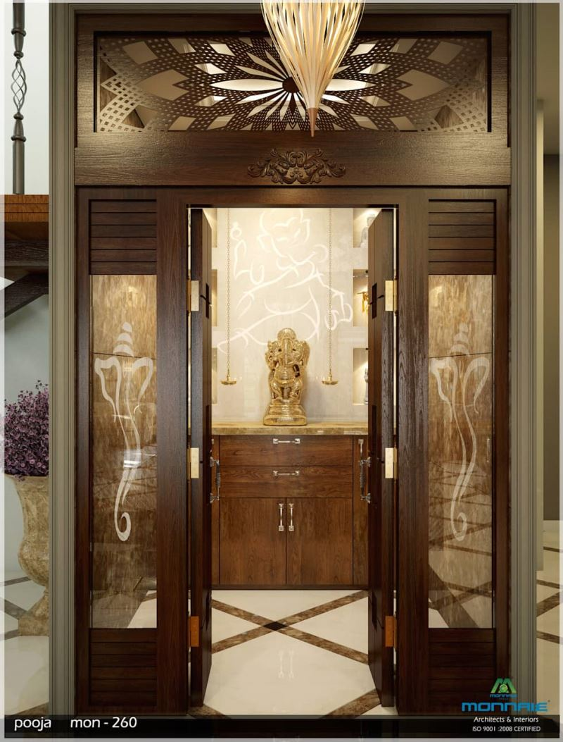 275 Best Lcd Unit Images On Pinterest: 67+ Simple Pooja Room/Temple Designs & Styles For Small Home