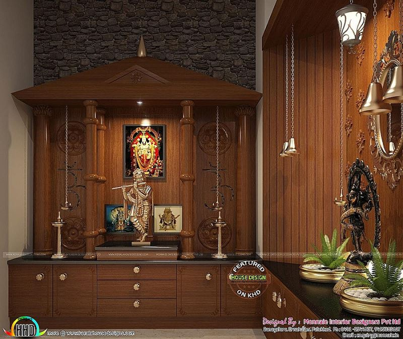 67 simple pooja room temple designs styles for small home - Pooja mandir door designs for home ...