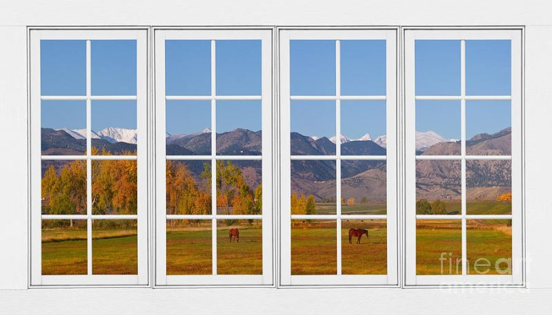 rocky mountains horses white window frame view james bo insogna window frame design images  sc 1 st  Designs Flat & 57+ Latest Wood Window Frame Designs for Indian House (Kerala Style)