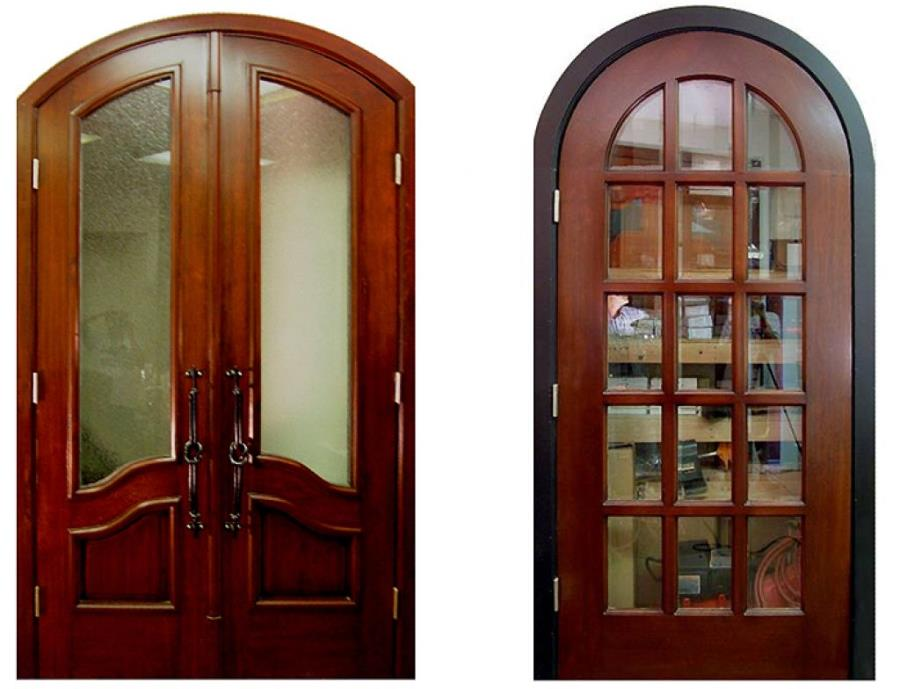 simple vintage styled interior wood french doors design with arched door type and using teak wood material for door reinforcement teak wood door designs images.html