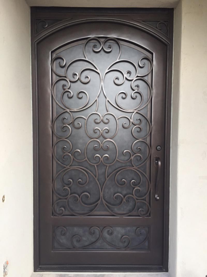 single door with solid panel iron gate design for home single main door designs iron door.html
