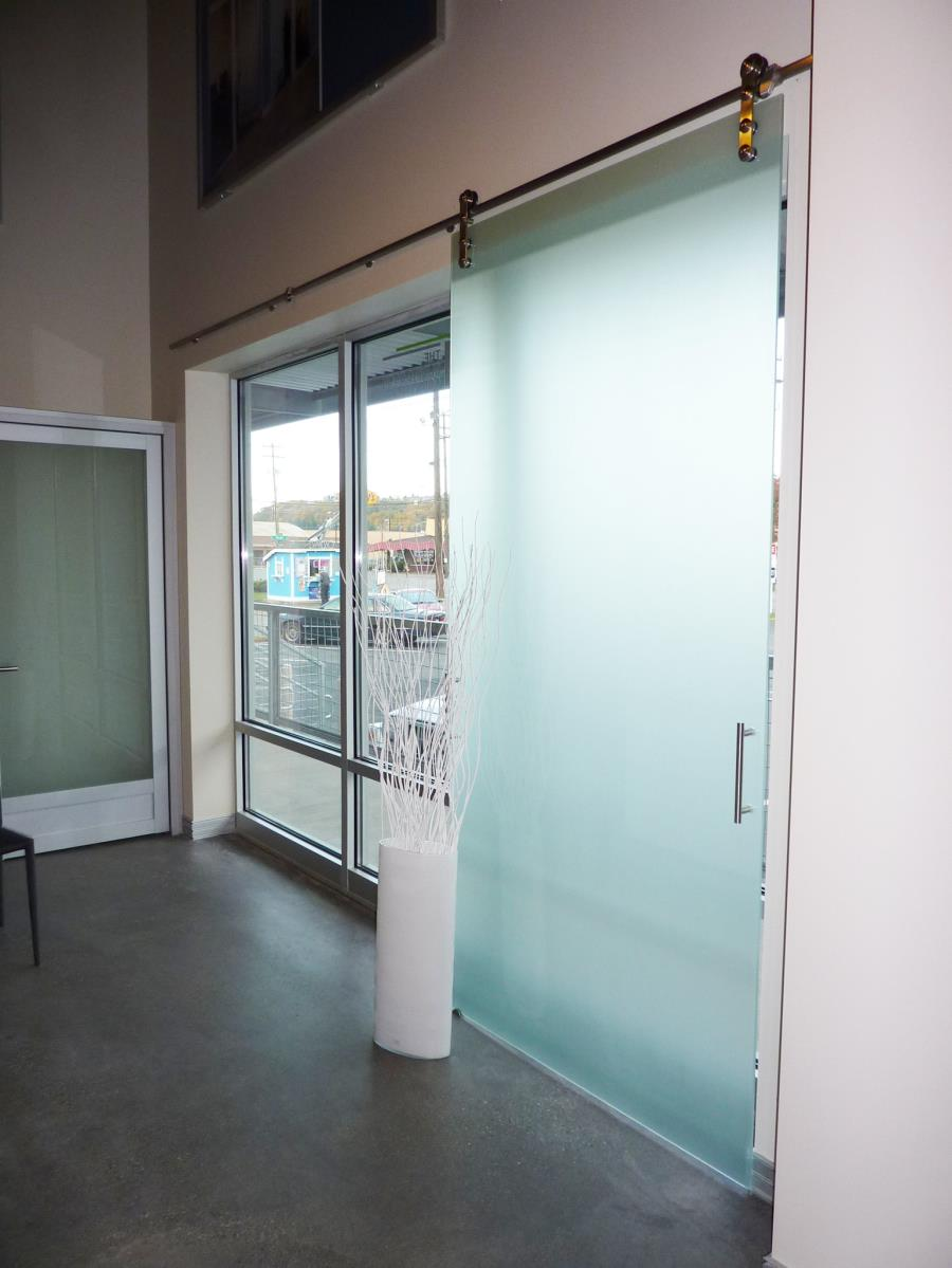 sliding glass barn doors top hung entrance door design for office.html