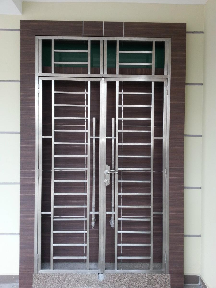 97 Main Front Stainless Steel Door Design With Grill For Home