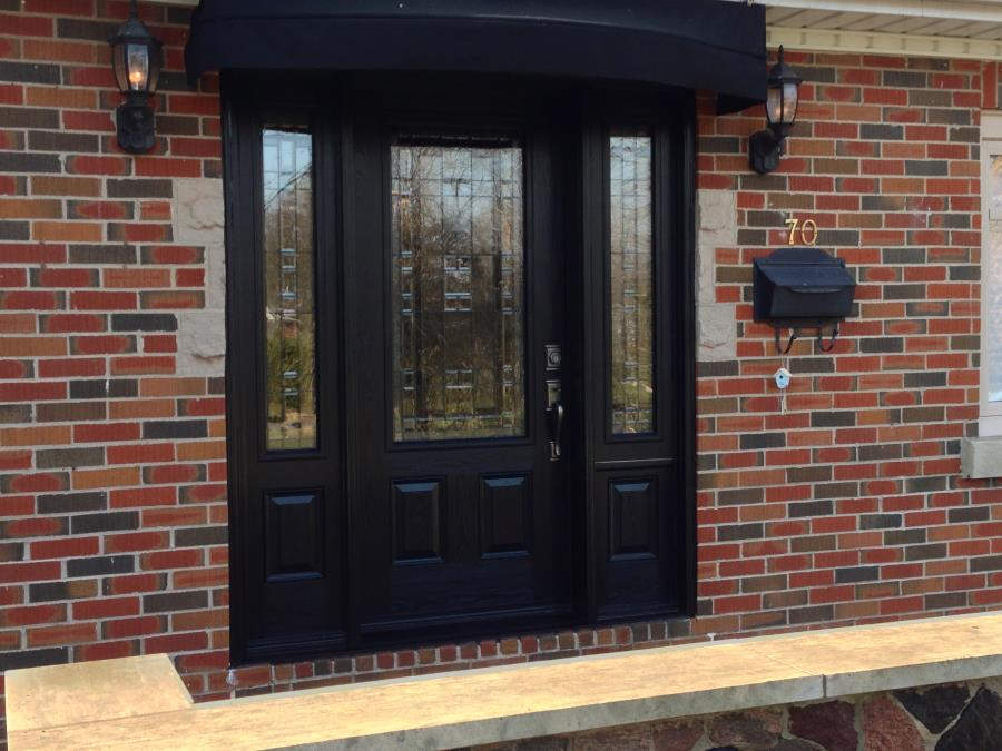stunning black front door with sidelights entry door with sidelights lowes with lamp and black color and front yard designs for main door of flat.html