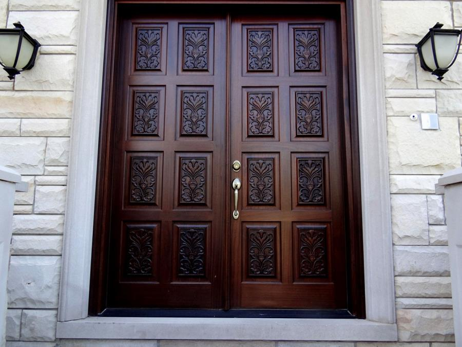 Amazing Double Door Design For Home Wood Front Entrance Designs ...