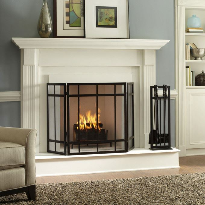 undeniably stunning pure white fireplace design ideas indoor mixed by black iron garage x brick indoor fireplace designs.html