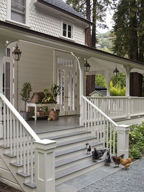 29+ Front (Wood & Steel) Porch Railing & Fence Design Ideas on Large Back Porch Ideas id=44950