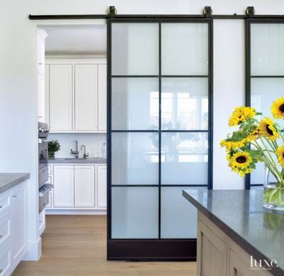 91+ Open Wood Kitchen Entrance Door with Glass Designs & Ideas