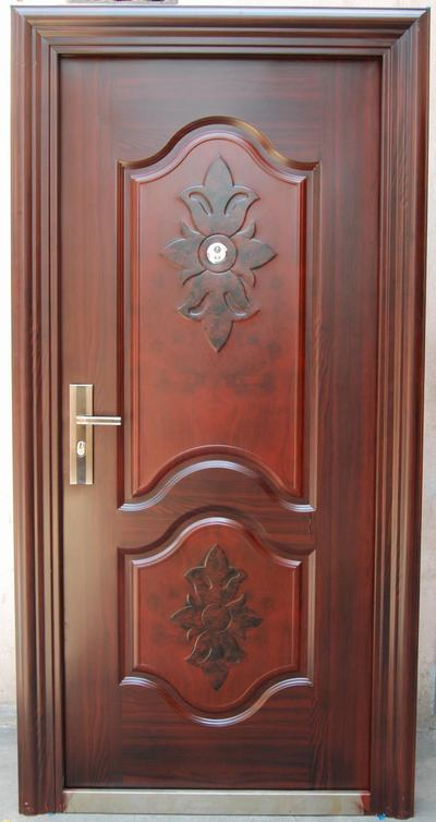 Door degins single door designs for indian homes for Plywood door design